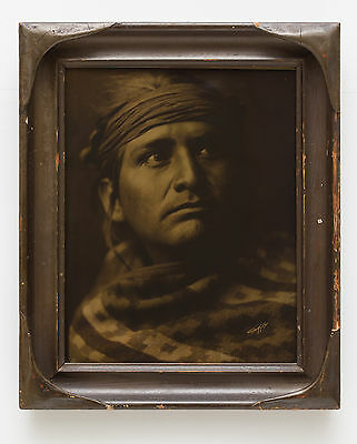 Edward Curtis Chief of the Desert Orotone (Goldtone)