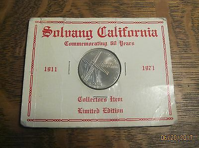 Solvang California Commemorative Coin - 1911 to 1971 - 60 Years