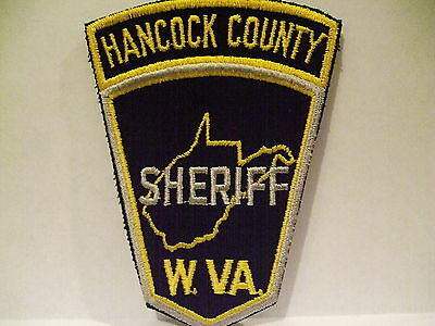 police patch  HANCOCK COUNTY SHERIFF WEST VIRGINIA