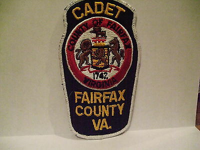 police patch  FAIRFAX COUNTY POLICE VIRGINIA CADET