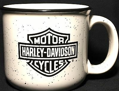 Harley Davidson Mug  Motorcycle Speckled Coffee Tea Dealer Team Simi Valley