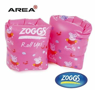 Zoggs Peppa Pig Roll Up Arm Bands, Children's Pool Floaties, Swimming Arm Bands