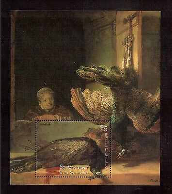 St.vincent & The Grenadines 2001 #2872 S/s Mint Nh Painting Of Rembrandt !!