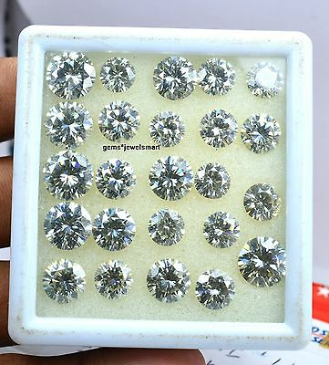 50 Ct VVS1 off white Loose Moissanite diamond  Round Brilliant Cut ,  AAA+++QL