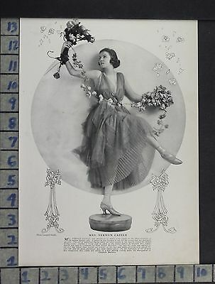 1916 Theater Vernon Castle Film Motion Picture Photo Ill Vintage Ad Dl75
