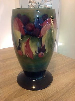 Vintage Large Moorcroft Leaves And Berries Vase 24Cm In Excellent Condition