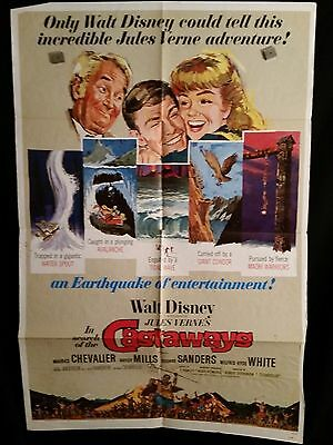 In Search Of The Castaways ORG 1962 One Sheet Movie Poster Walt Disney