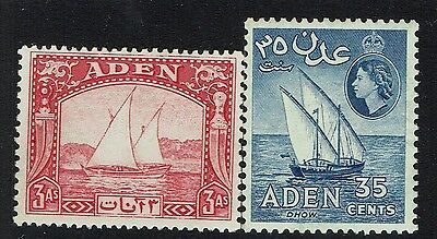 Aden SG# 6, Mint Lightly Hinged, #57, Mint Never Hinged - Lot 031217