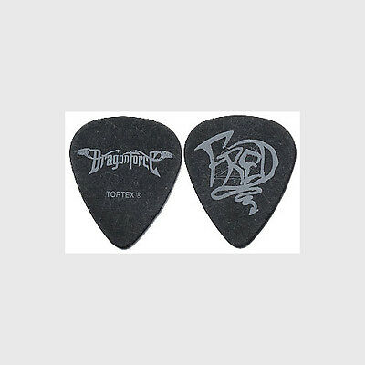 DragonForce Frederic Leclercq authentic 2007 tour issued custom band Guitar Pick