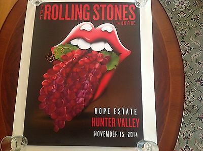 The Rolling Stones 14 on Fire Ltd. Ed. Lithograph Poster Hunter Valley 1st ed.