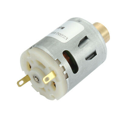 RS-360 DC 12V 6000RPM 2 Terminals High Torque Cylinder Micro Vibration Motor
