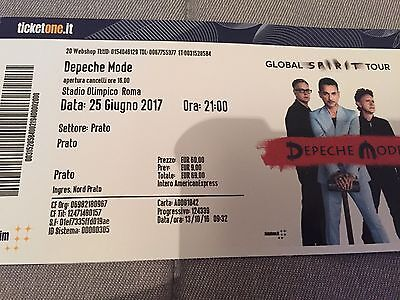 2 X Depeche Mode Tickets - Rome, 25th  June 2017 PRATO  that means the best!