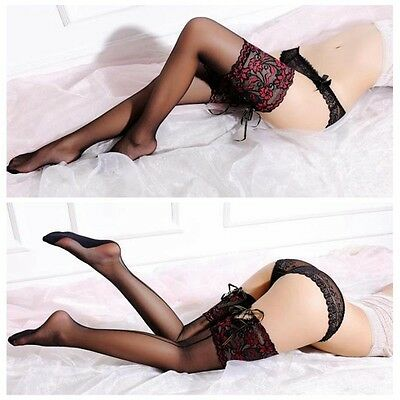 Women Ladies Tights Lace Top Stay Up Thigh High Stockings Pantyhose Fashion