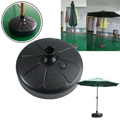 Outdoor Patio Yard Garden Decor Water Sand Fillable Umbrella Base Stand Holder