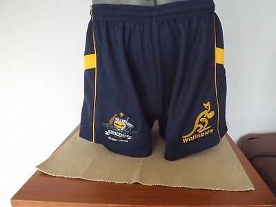 Wallabies Rugby Union Shorts Good Used Condition Childs Xl