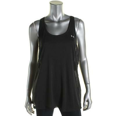 Under Armour 8811 Womens Gray Slub Sheer Racerback Tank Top L BHFO