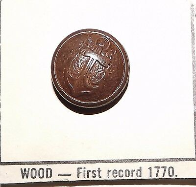 Small Anchor Wood Button #WCard