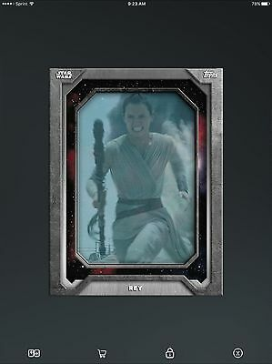 Topps Star Wars Card Trader Holo-Screen Marathon Series 2 Rey 1000cc DIGITAL