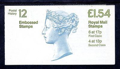 GB Stamps £1.54 Folded Booklet 1984 Embossed Stamps 12 SG FQ2B Mint