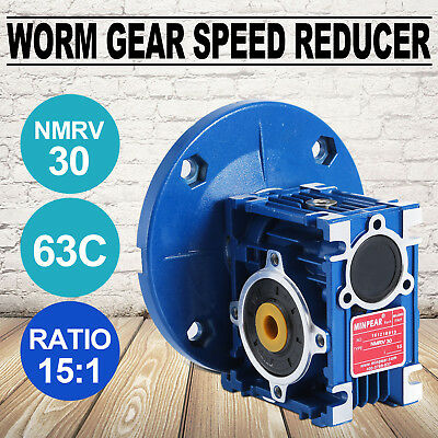 NMRV030 Worm Gear Ratio 15:1 63C Speed Reducer Gearbox 0.38HP Hot Top Update