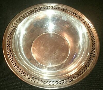 Tiffany & Co Makers Sterling Silver Reticulated Nut Candy Bowl Dish