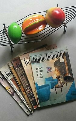 6 Vintage retro Australian Home Beautiful magazines July-December 1971