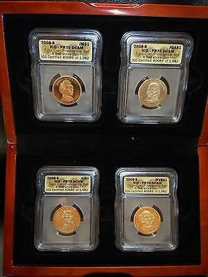 2008-S~~ICG PR70~PRESIDENTIAL PROOF 4-COIN SET MINT condition