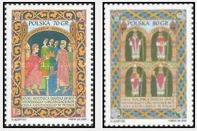 Timbres Religion Pologne 3584/5 ** année 2000 lot 21130