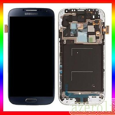 DISPLAY LCD per SAMSUNG  BLU GALAXY S4 i9505 MARINO TOUCH SCREEN + FRAME SCHERMO