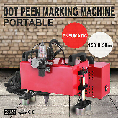 Portable Pneumatic Dot Peen Marking Machine Serial Number USB Control VIN Code