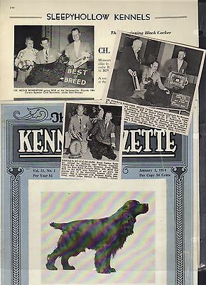 American Cocker Spaniel, 77 Kennel Clippings out Dog Magazines 40's-60's,LOT1of3