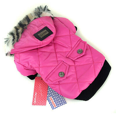 Waterproof Warm Coat Pet Small Dog Cat Puppy Hoodie Thick Jacket  Apparel Rose