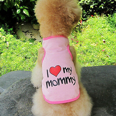 Small Pet Dog Apparel Vest Puppy Cat Coat Clothes T-shirt Summer Vest S Pink