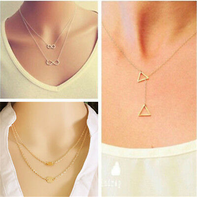 Fashion Women Charm Jewelry Choker Chunky Statement Bib Pendant Chain Necklace
