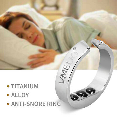 Magnetic Therapy Acupressure Anti Snore Ring Apnea Sleeping Aid Snore Stopper