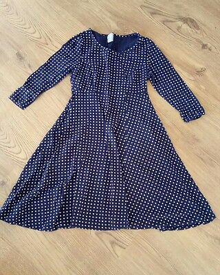 asos size 8 maternity top navy with white spots