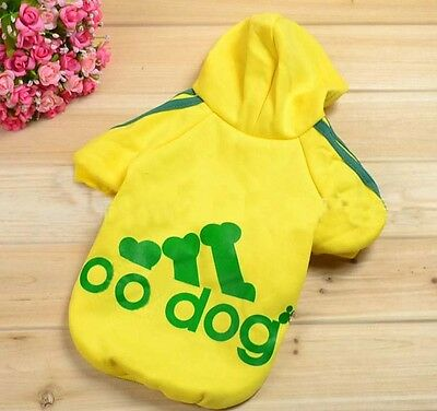 Autumn Winter Pet Costume Puppy Hoodie Clothes for Dogs or Warm Coat Clothing M