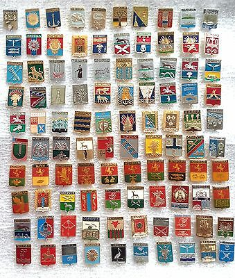 Set of Soviet Pins Badges Cities Coats of Arms USSR  100 PCS