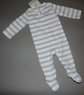 Baby boy clothes, 6-9 months, Adent Aden+Anais striped blue & white jumpsuit