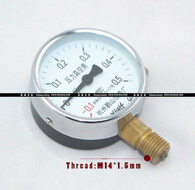 "2.5"" 60mm brass pressure gauge Mpa manometer ,M1.4*1.5 Metric thread BSP adapter"