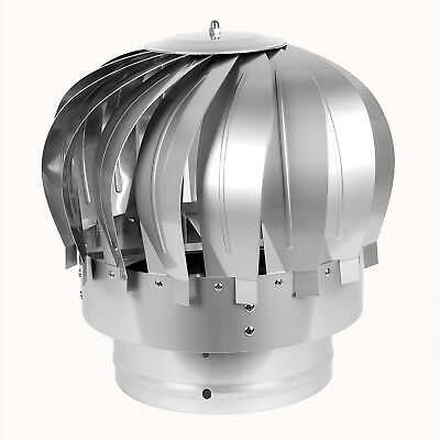 Anti Down Draught Stainless Steel Rotating Roof MAD Spinner Cowl Chimney Flue