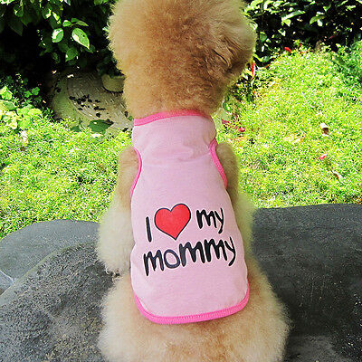 Small Pet Dog Apparel Vest Puppy Cat Coat Clothes T-shirt Summer Vest Pink New