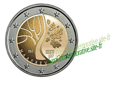 2 Euros Commémorative Estonie 2017 ''Independance'' UNC