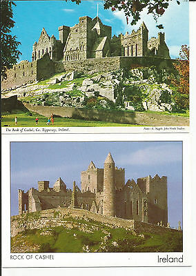 2 Unused Postcards From County Tipperary, Ireland, Rock Of Cashel