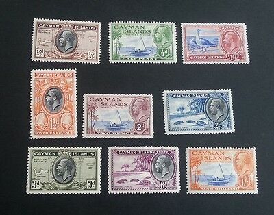 Cayman Islands George V 1935 set to one shilling mounted mint stamps