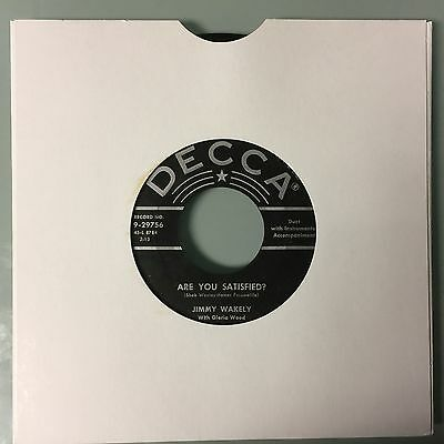 """7"""" Jimmy Wakely - Are You Satisfied (Usa, 1956)  Ex+"""