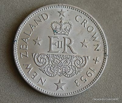 "1953 NEW ZEALAND LARGE CROWN aUNCIRCULATED ""NICE"" LOOSE #YBP10"