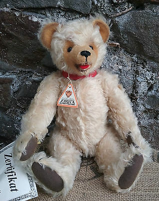 German Educa Eduard Cramer Ltd. Ed. mohair teddy bear with tags, for Toyfair,13""