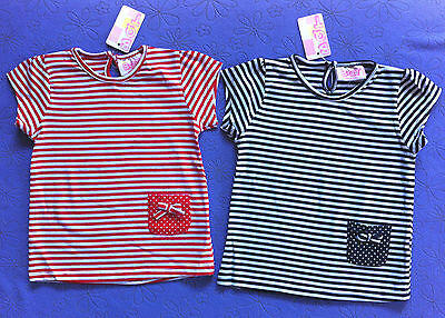 BQT - Girls - Striped - Tshirt - Top - Size 000, 00, 0, 1, 2