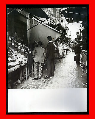 Fotografia Photo Vintage B/n Black White - Napoli Botteghe Ai Quartieri Spagnoli